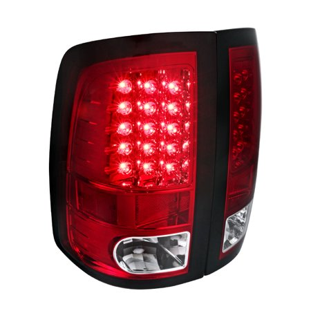 Spec-D Tuning For 2009-2017 Dodge Ram Pickup 1500 2500 3500 Red Led Rear Brake Lamps Tail Lights (Left + Right) 2009 2010 2011 2012 2013 2014 2015 2016 - 3500 Rear Right Brake