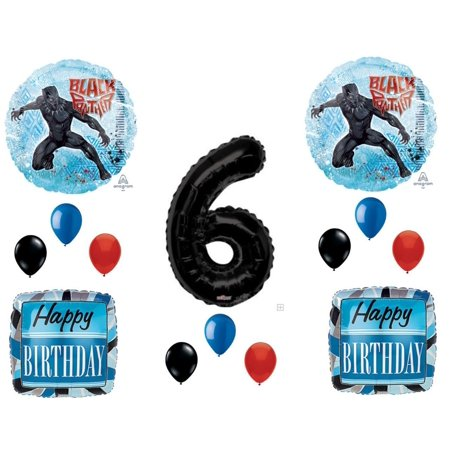 Black Panther Movie 6th Birthday Party Balloons Decorations Supplies...