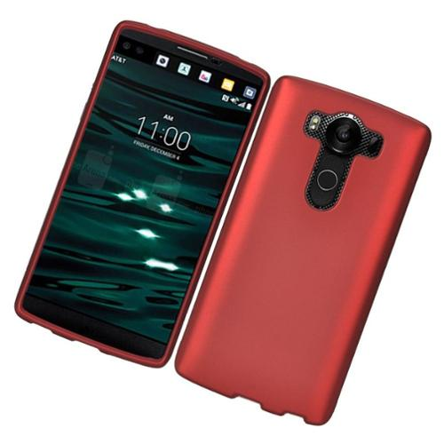 Insten Hard Rubber Coated Cover Case For LG V10 - Red