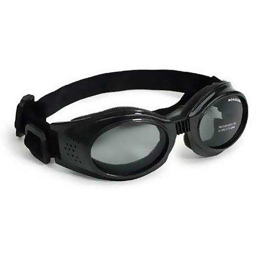Doggles Originalz Dog Sunglasses, Medium, Chrome/Smoke