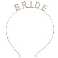 Lux Accessories Gold Tone Bride Bridal Bachelorette Verbiage CrownHeadband