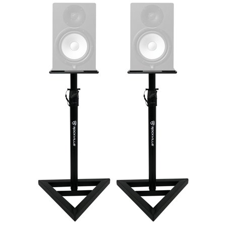 (2) Rockville Adjustable Studio Monitor Speaker Stands For Yamaha HS8 (Studio Monitor Stand)