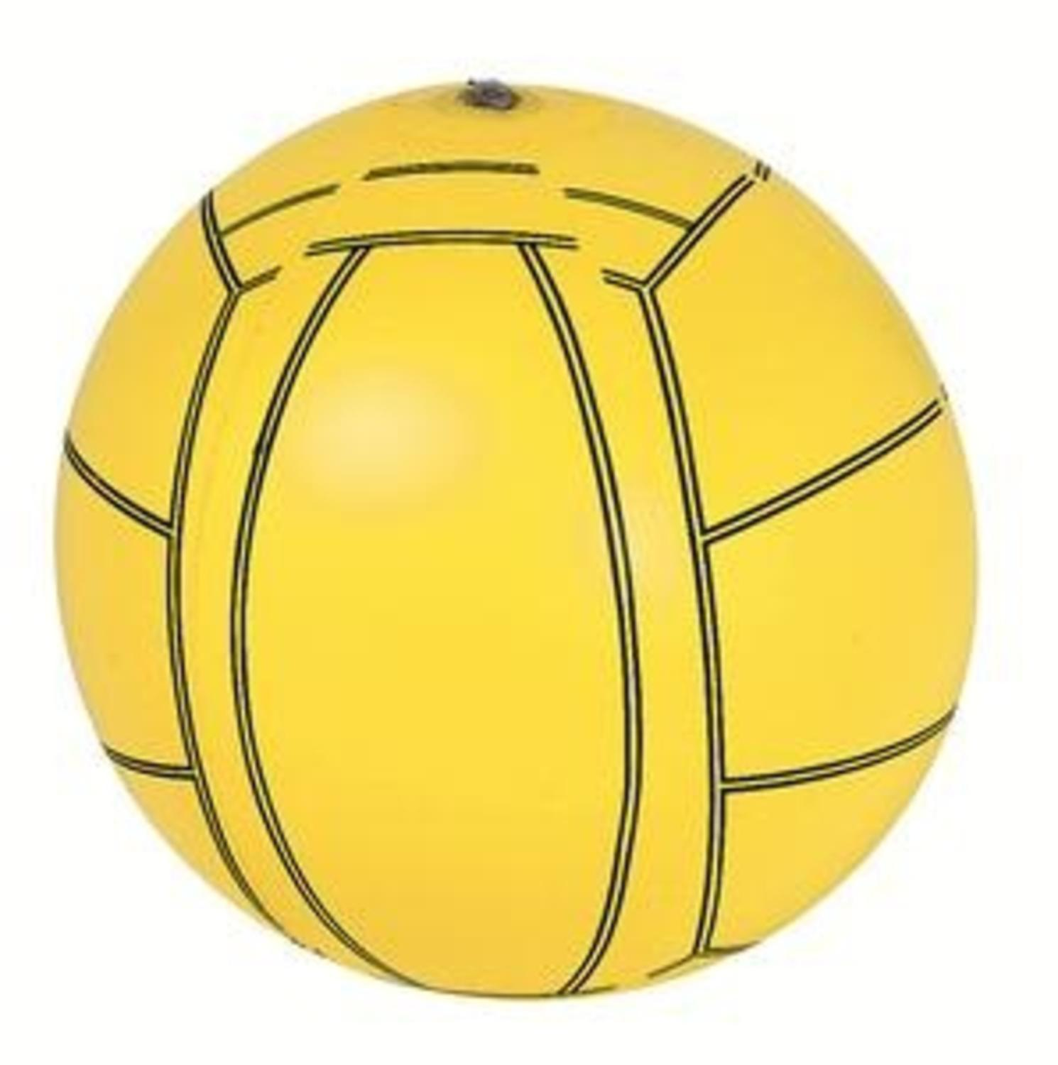 "16"" Yellow and Black 6-Panel Inflatable Beach Volleyball Swimming Pool Toy by Pool Central"