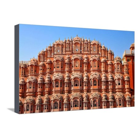 Hawa Mahal (Palace of Winds), Built in 1799, Jaipur, Rajasthan, India, Asia Stretched Canvas Print Wall Art By
