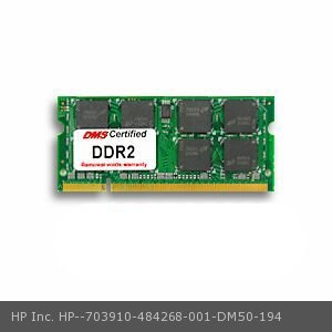 DMS Compatible/Replacement for HP Inc. 484268-001 Pavilion dv5-1030ef 2GB DMS Certified Memory 200 Pin  DDR2-800 PC2-6400 256x64 CL6 1.8V SODIMM - DMS