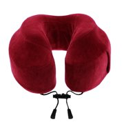Cabeau™ Evolution Memory Foam Travel Neck Pillow - The Best Travel Pillow with 360 Head, Neck and Chin Support, Crimson