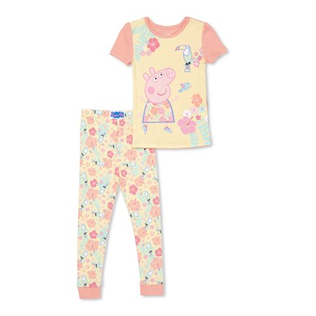 Peppa Pig Toddler Girls Cotton tight fit pajamas, 2pc set