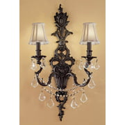 Majestic Imperial 2-Light Crystal Wall Sconce (Aged Bronze - Crystalique)