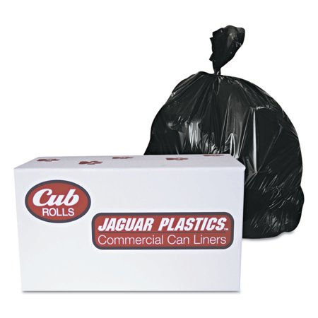 Jaguar Plastics Industrial Drum Liners, 60 gal, 2.7 mil, 38 X 63, Black
