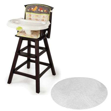 Summer Infant Fox Friends Classic Comfort Wood High Chair With Floor Mat
