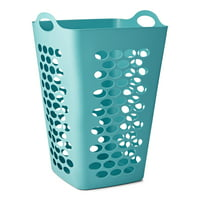 """Mainstays Flexible Square Teal Laundry Hamper, 26"""""""