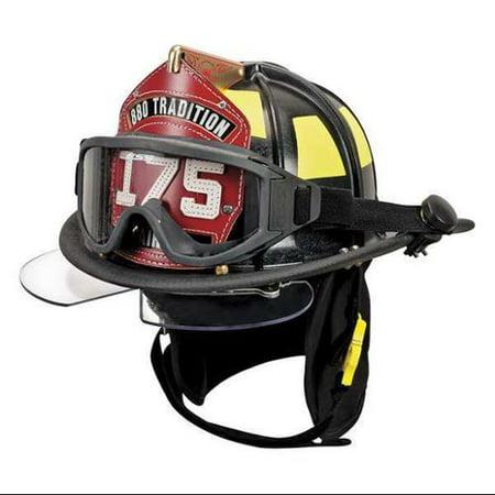 CAIRNS 10047433 Fire Helmet, Black, Traditional