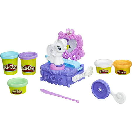 My Little Pony Play Doh Halloween (Play-Doh My Little Pony Rarity Style & Spin Set with 5 Cans of)