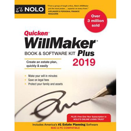 Quicken Willmaker Plus 2019 Edition : Book & Software