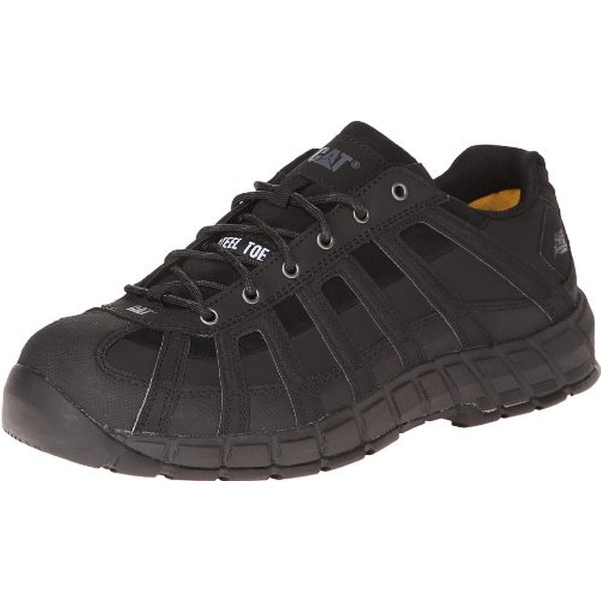 Caterpillar Mens Switch Leather Steel Toe Work Shoes