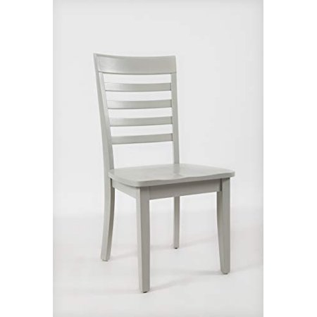Benzara Bm183814 Wooden Dining Chair With Ladder Back Set Of Two White