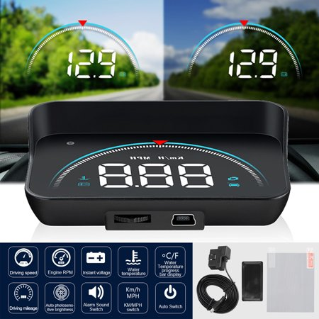 TSV HUD M8 OBD2 Universal Multi-Function Vehicle-Mounted Heads up Display  for Cars Windshield Compatible with OBD II EOBD System Model Cars