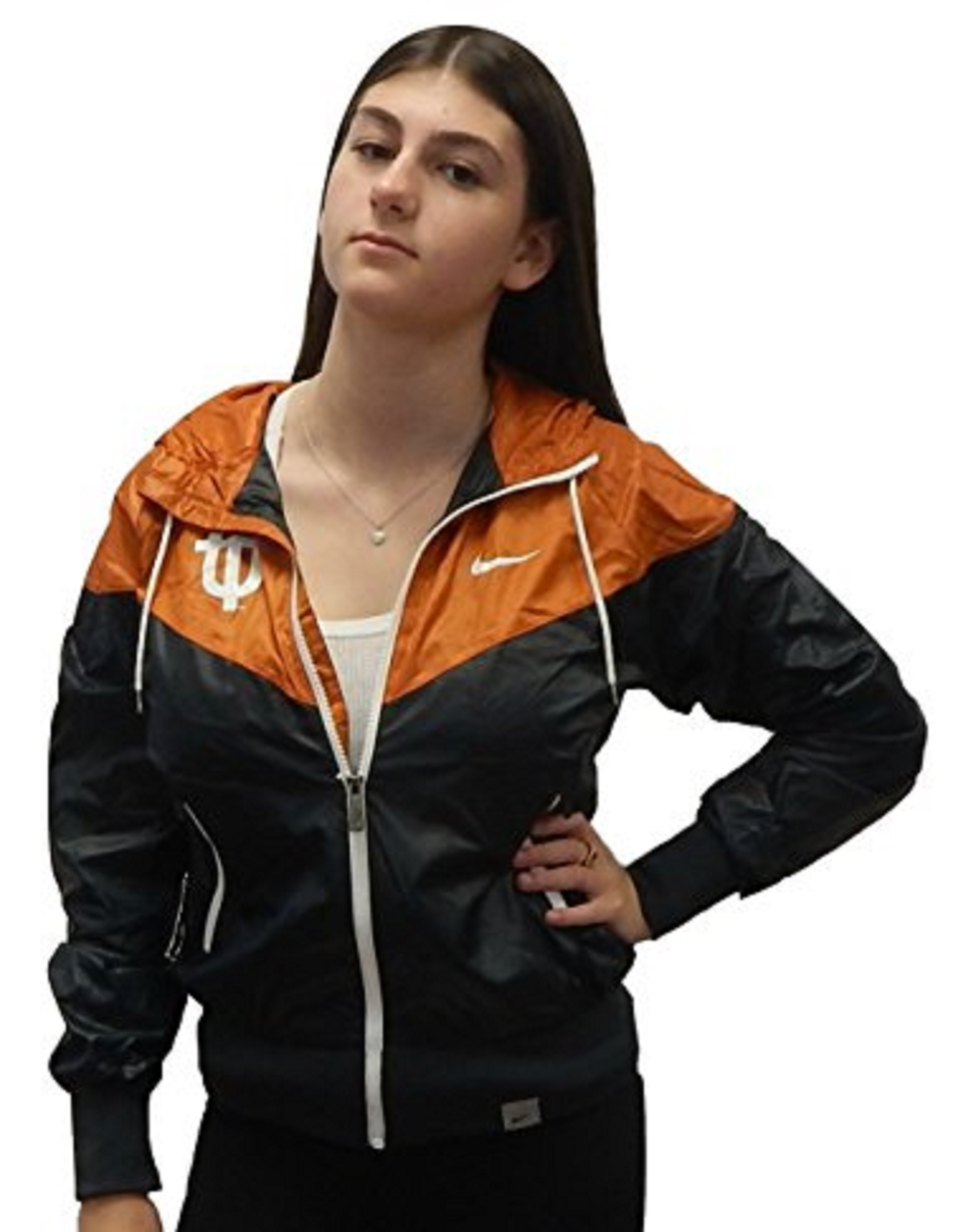 Texas Longhorns Women's Nike College Vault Full Zip Windrunner Jacket Windbreaker (medium) by