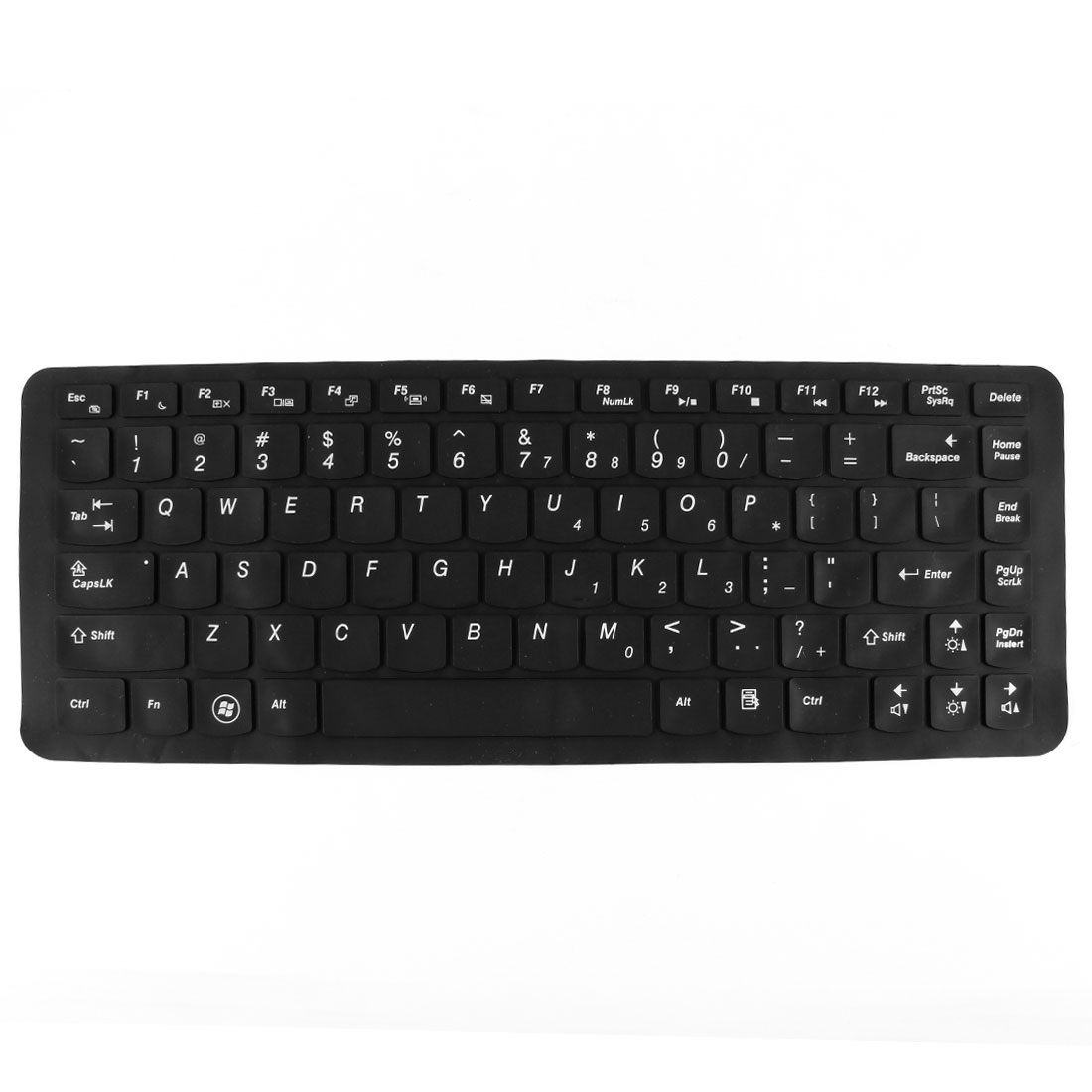 Unique Bargains Silicone Notebook Keyboard Film Skin Cover Protector Black for Lenovo 14""