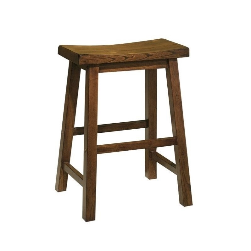 """Powell """"Honey Brown"""" Counter Stool, 24"""" Seat Height by Powell"""