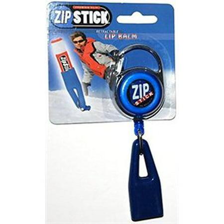 Zip Stick Retractable Lip Balm Holder - Blue - Zip Lips Halloween