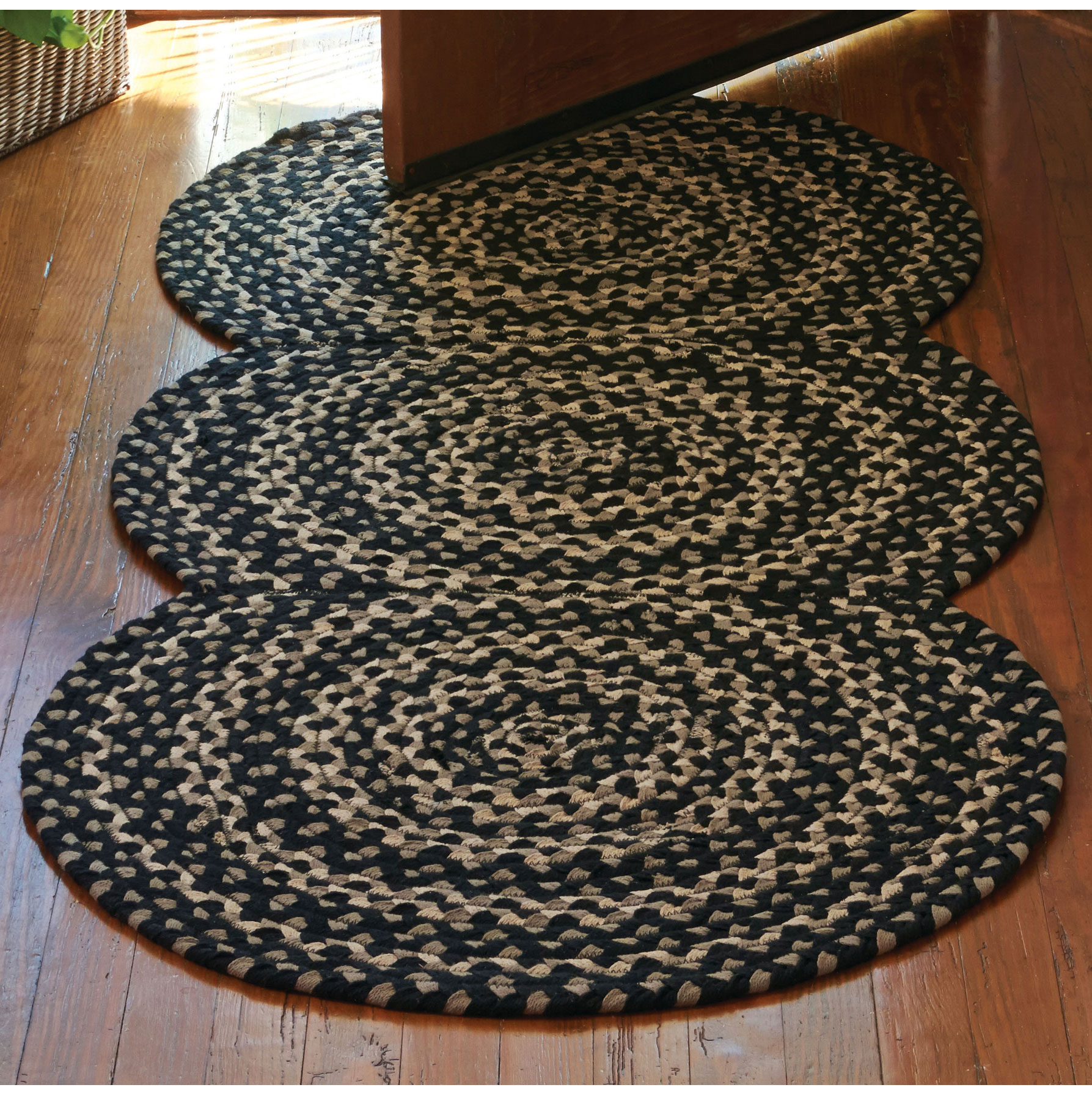 Black Gray Cotton Area Braided Rug Kendrick By Park Designs Various