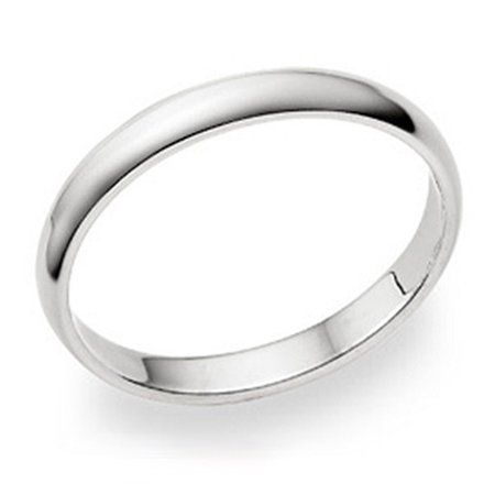3MM Sterling Silver High Polish Plain Dome Tarnish Resistant Comfort Fit Wedding Band Ring Sz 12.5