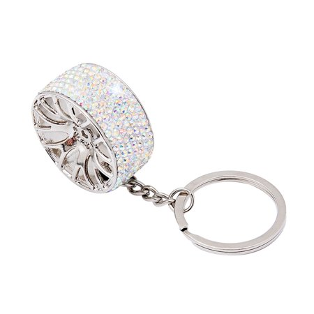 Rhinestone keychain New Creative Wheel Hub Rim Model Car Key Chain Keyring Gift