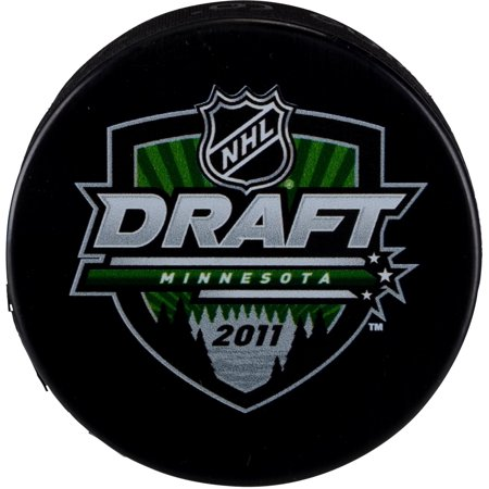 2011 NHL Draft Unsigned Draft Logo Hockey Puck