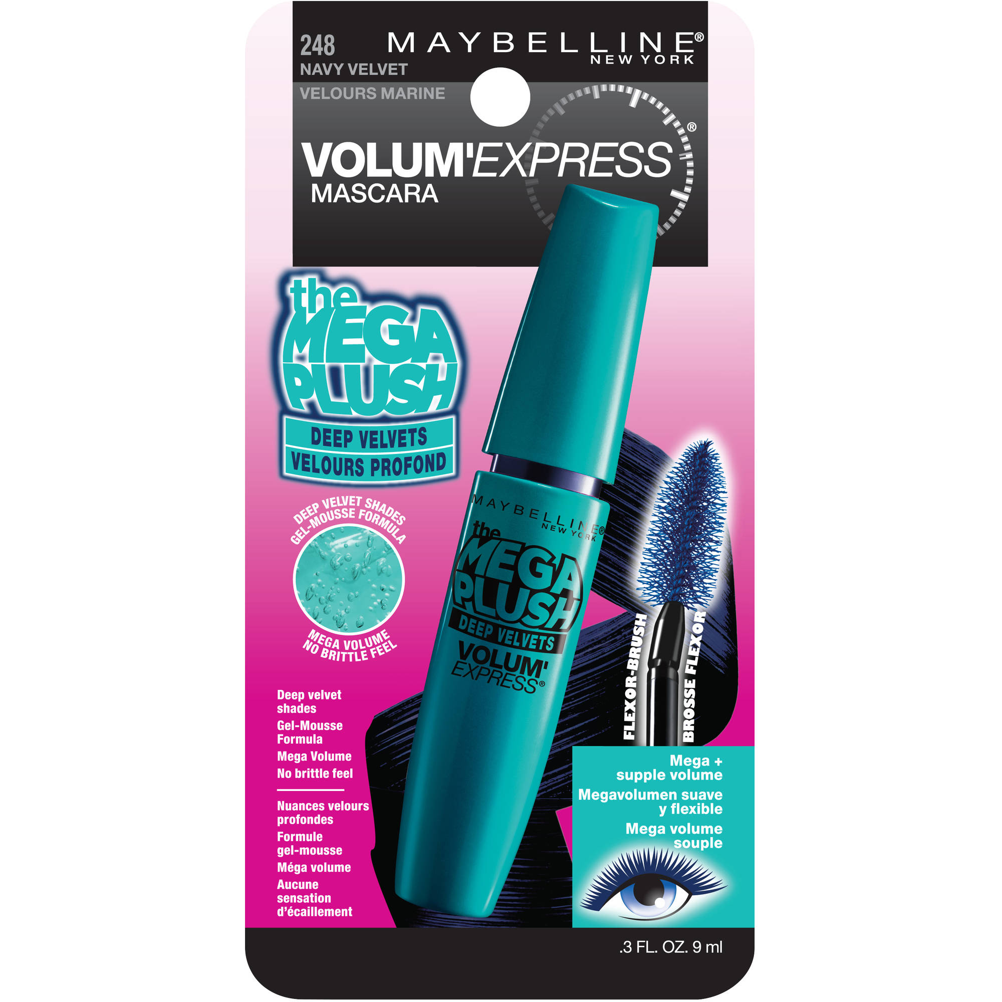 Maybelline Volum' Express Mega Plush Deep Velvets Washable Mascara
