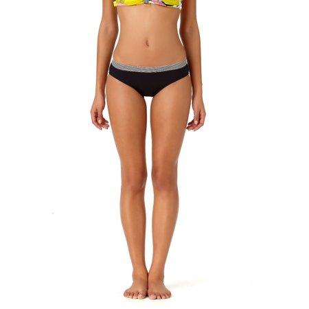 - Studio Anne Cole Women's The Ringer Solid Bikini Hipster Swim Bottom