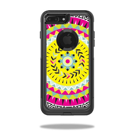 MightySkins Protective Vinyl Skin Decal for OtterBox Commuter iPhone 7 Plus Case wrap cover sticker skins Pink Aztec