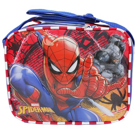 Lunch Bag - Marvel - Spiderman vs Green Goblin Red 121600](Spiderman Lunch Box)