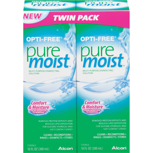 Alcon Opti-Free Pure Moist Multi-Purpose Disinfecting Solution, 2pk
