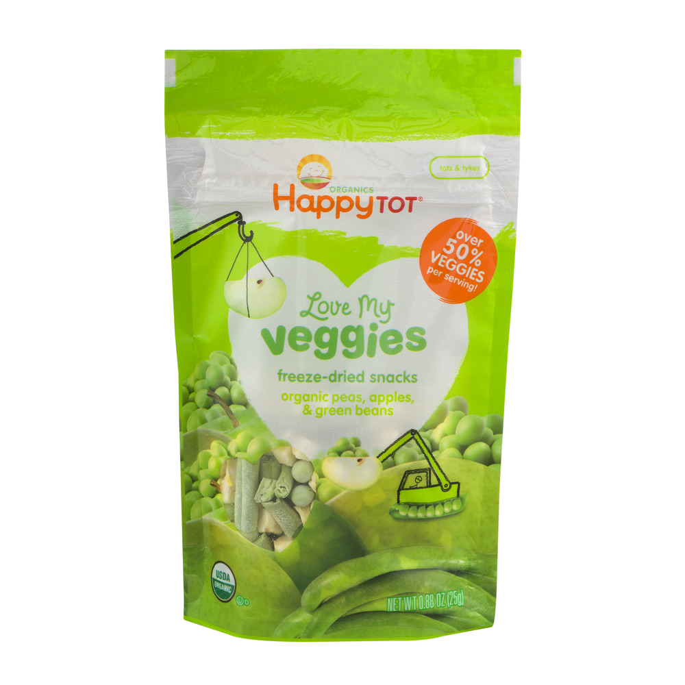 HappyTot Organics Love My Veggies Peas, Apples & Green Be...