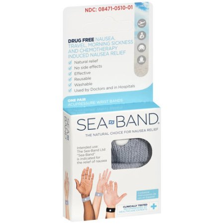 Sea-Band Accupressure Wrist Bands - 1 Pair