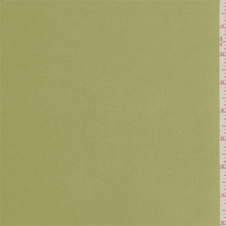 Light Avocado Green Charmeuse, Fabric By the Yard