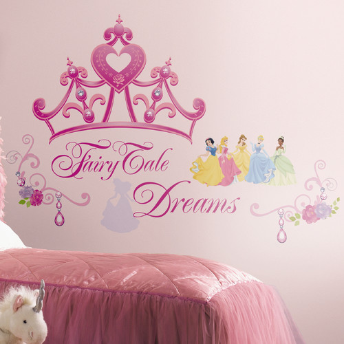 RoomMates Disney Princess Crown Peel & Stick Giant Wall Decal