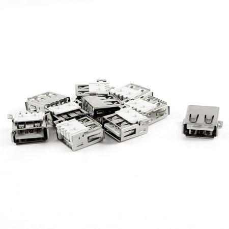 USB Type A 2.0 Female Solder SMT SMD Connector Socket Jack 10 Pcs - image 1 of 1