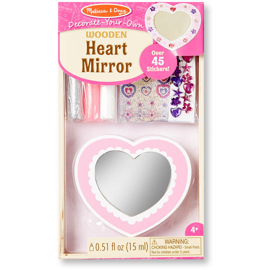 Melissa & Doug Decorate-Your-Own Heart Mirror