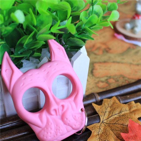 Dog Skull Shaped Security Tool - Pink And Black Doc Martens