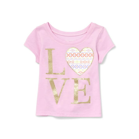 The Children's Place Short Sleeve Graphic Tee (Baby Girls & Toddler (Best Place To Shop For Baby Clothes)