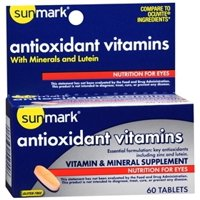sunmark Vitamin and Mineral Supplement  1000 IU / 60 IU / 200 mg Strength Tablet Bottle of 60