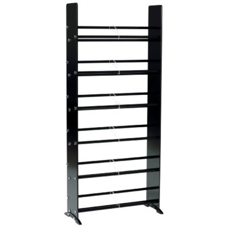 Glass Entertainment Rack - transdeco td319b glass multimedia rack for for 336 cd 234 dvd, black/chrome