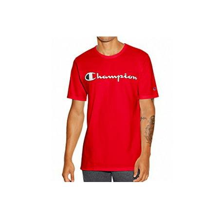 d3394903 Champion LIFE - Champion LIFE Men's Heritage Tee, Team Red Scarlet/Patriotic  Champion Script, S - Walmart.com