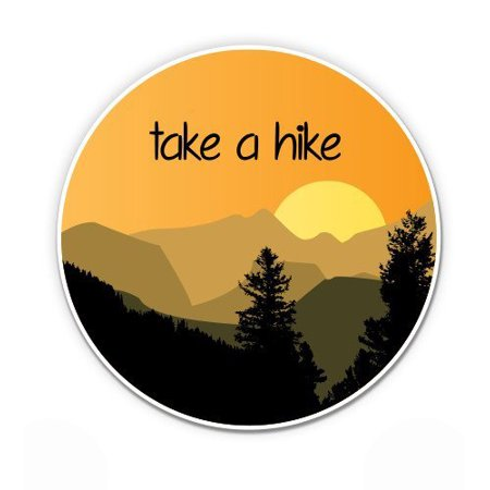 Take a Hike Mountains - Vinyl Sticker Waterproof Decal Sticker (Best Hiking Stickers)