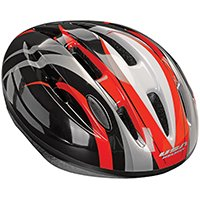 Kent 97536 Swirl Design, V-14 Bicycle Helmet, Black/Red, Gloss, For 23 to 25 in Head Size and 14 and Up Years Adult