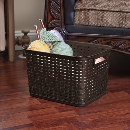 Sterilite Tall Weave Storage Basket-15