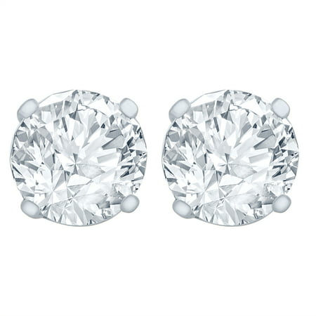 1/2 Carat Diamond Stud Earrings (I2I3 Clarity, JK Color) 14kt Gold