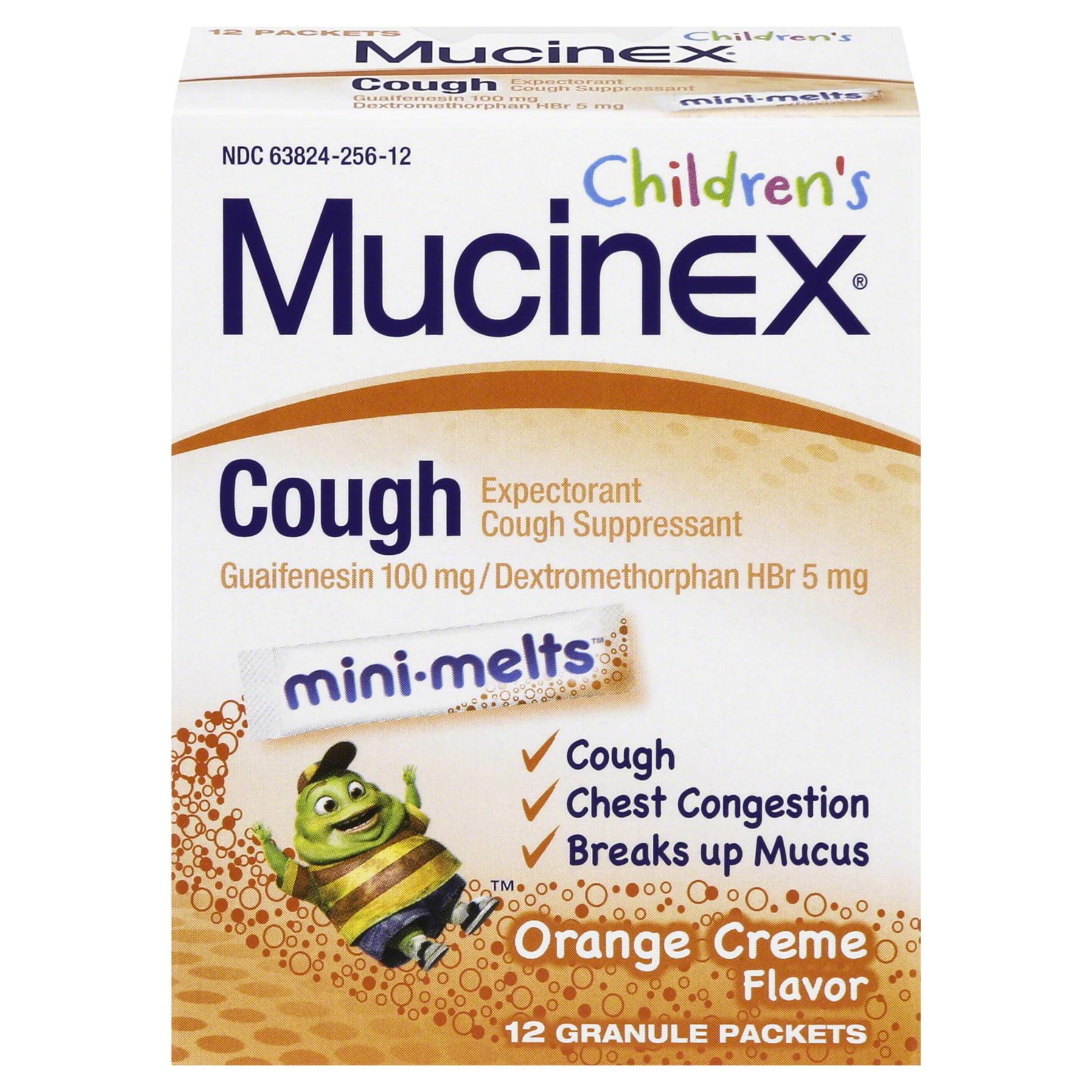 Mucinex Childrens Mini Melts, Cough, Orange Crème, 12ct